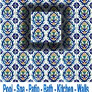 SEVILLA DESIGN ACCENT TILE 4in X 4in , in Antique Looking Ceramic Tiles