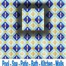 NADIA DESIGN ACCENT TILE 4in X 4in, in Antique Looking Ceramic Tiles