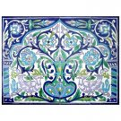 ARABESQUE DESIGN MOSAIC TILES WALL MURAL, 24in X 18in, in Antique Looking Ceramic Tiles Wall Mural