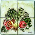 KITCHEN BACKSPLASH WALL MURAL - CCT1013 in Antique Looking Ceramic Tiles Wall Mural