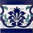 BLUE CERAMIC BORDER 6in X 6in, in Antique looking Ceramic Border Tiles