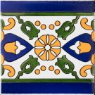 BLUE STRIPED BORDER 6in X 6in, in Antique Looking Ceramic Border Tiles