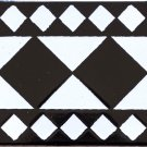 HAMMA DESIGN ACCENT BORDER TILE, 8in x 4in, in Antique Looking Ceramic Border Tile