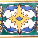 HAJOURA DESIGN ACCENT BORDER TILE 8in x 4in, in Antique Looking Ceramic Border Tile