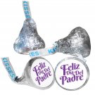 108 Feliz Dia Del Padre Personalized Hershey Kiss Labels Stickers Fathers Day