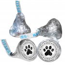 108 Pet Cat Paw Prints Animal Rescue Hershey Kiss Labels Stickers Party Favors