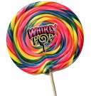 """Giant  XXXL 8"""" Round Big Lollipop Whirly Pop 24-Ounce Rainbow Swirl Suckers"""