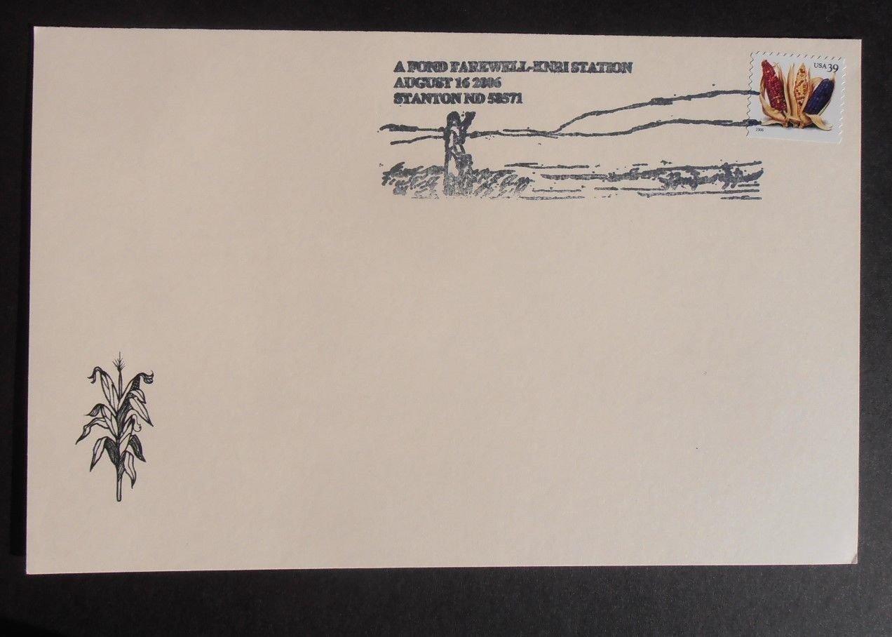 Scott# 4007 Crops / Corn Special Card. Stanton ND 58571, Aug 16, 2006 Postmark