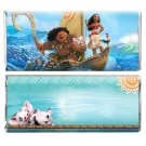 12 Moana Birthday Party Supplies Candy Bar Wrappers Personalized Party Favors