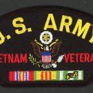 "U. S. Army Vietnam Veteran Embroidered Hat Patch Military Biker 3"" x 5 1/4"""