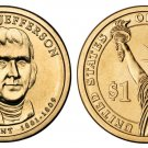 2007-D Thomas Jefferson Presidential Golden Dollar BU Coin Uncirculated