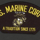 "USMC COLOR FOR HAT US MARINE CORPS A TRADITION SINCE 1775 PATCH 3"" X 5 1/4"""