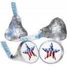 108 4th of July Hershey Kiss Kisses Labels Stickers Independence Day USA Flag
