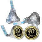 40th Birthday or Anniversary Hershey Kisses Kiss Labels Stickers for Party Favor