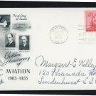 US Air Mail FDC Scott #C47 6c 1953 First Day Cover Artcraft Cachet