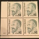 US Scott #2193 Plate Block of 4, Great Americans Series - Dr. Bernard Revel MNH