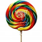 "5x Big Lollipops 5"" Round Whirly Pop 6-Ounce Rainbow Swirl Suckers - Great Gifts"