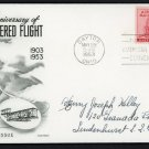 US Air Mail FDC Scott #C47 6c 1953 First Day Cover Fleetwood Cachet