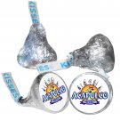 108 Acapulco Mexico Party Supplies Hershey Kiss Labels Stickers Party Favors