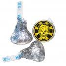 Zombie Party Supplies - Zombie Apocalypse Symbol Labels - Zombie Outbreak