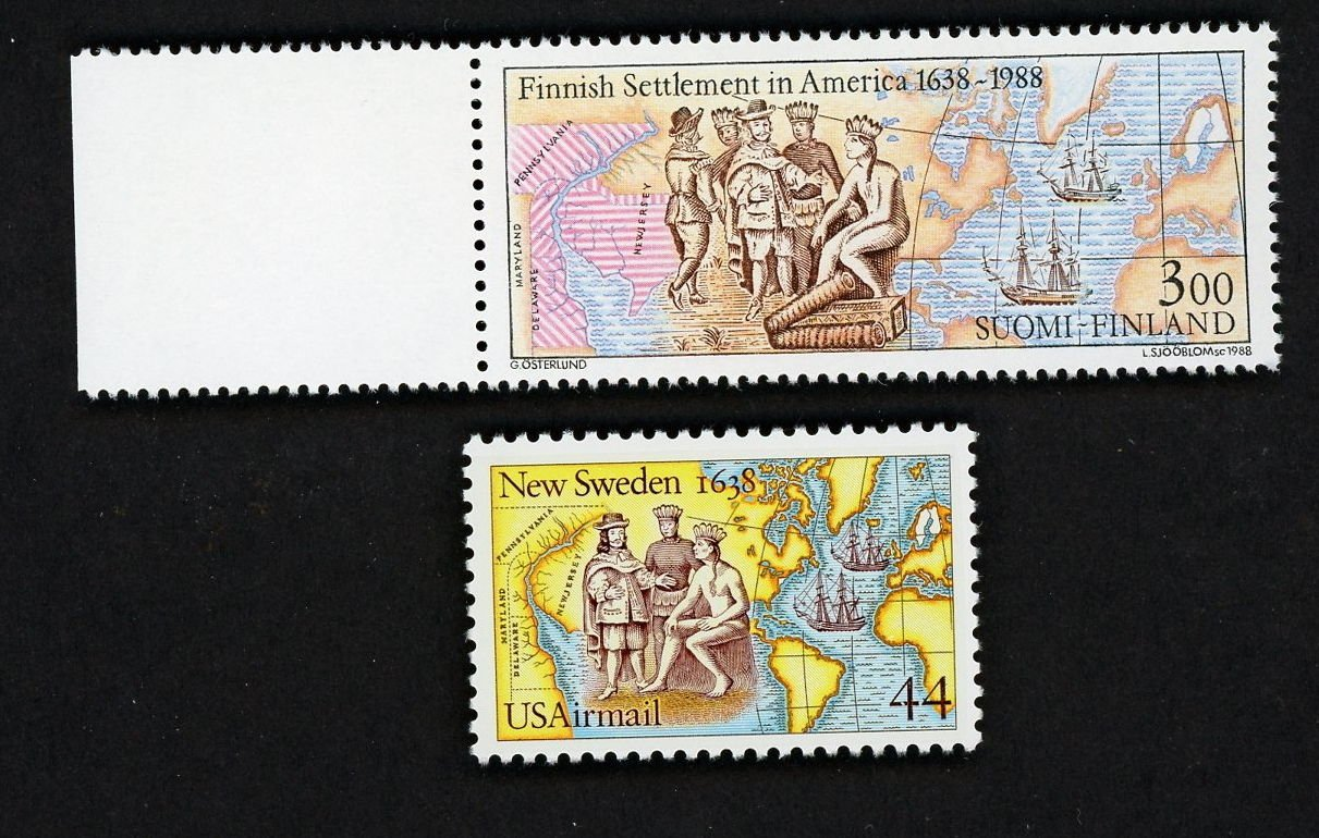 US, Finland Joint Issue, SC# 117, & Finland SC# 768 1988, New MNH