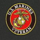 "U. S. MARINE CORPS USMC VETERAN EMBROIDERED PATCH SEMPER FI SEW/ IRON ON 3"""