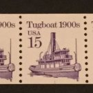 US Scott #2260 Tugboat PNC #1 Strip of 5 MNH