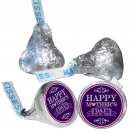 108 Mother's Day Hershey Kiss Labels Stickers Party Favors, Gift Bags Purple