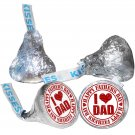 108 Father Day Hershey Kiss Labels Stickers Happy Father's Day Kisses I Love Dad