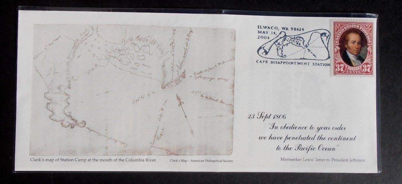 2004 FDC Scott# 3856 Lewis & Clark Ilwaco, WA May 14, 2004 Special Postmark