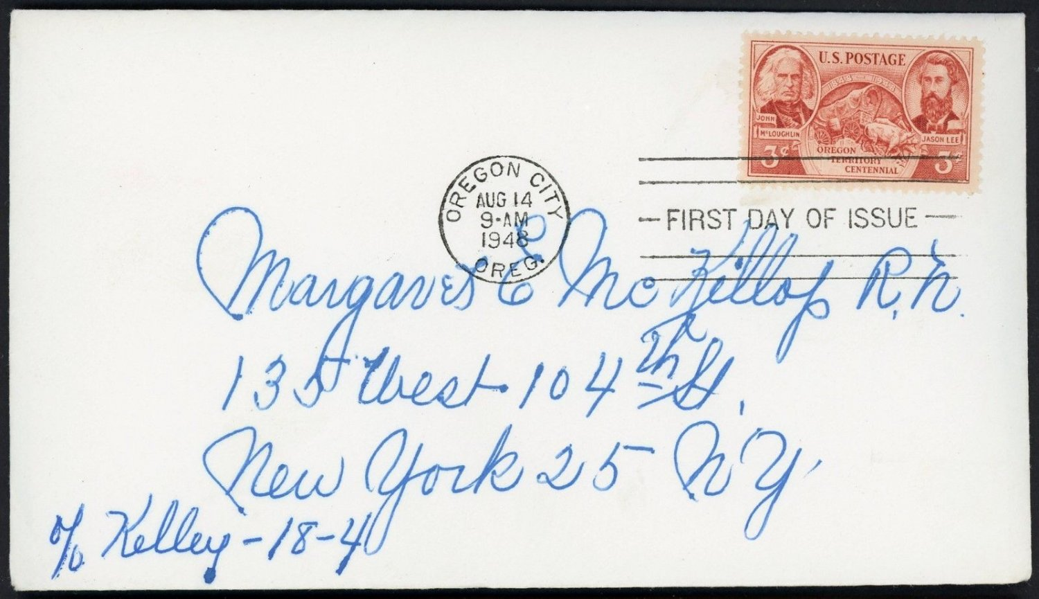 US Stamps #964 3c Oregon  Centennial 1948 First Day Cover FDC