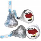 GRADUATION PARTY SUPPLIES 108 HERSHEY KISSES LABELS Class of 2017 Burgundy Cap