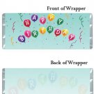 Birthday Party Supplies 12 Personalized Candy Wrappers with Colorful Ballons