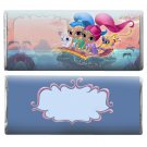 12 Shimmer & Shine Hershey Candy Bar Wrappers Personalized Glossy Paper