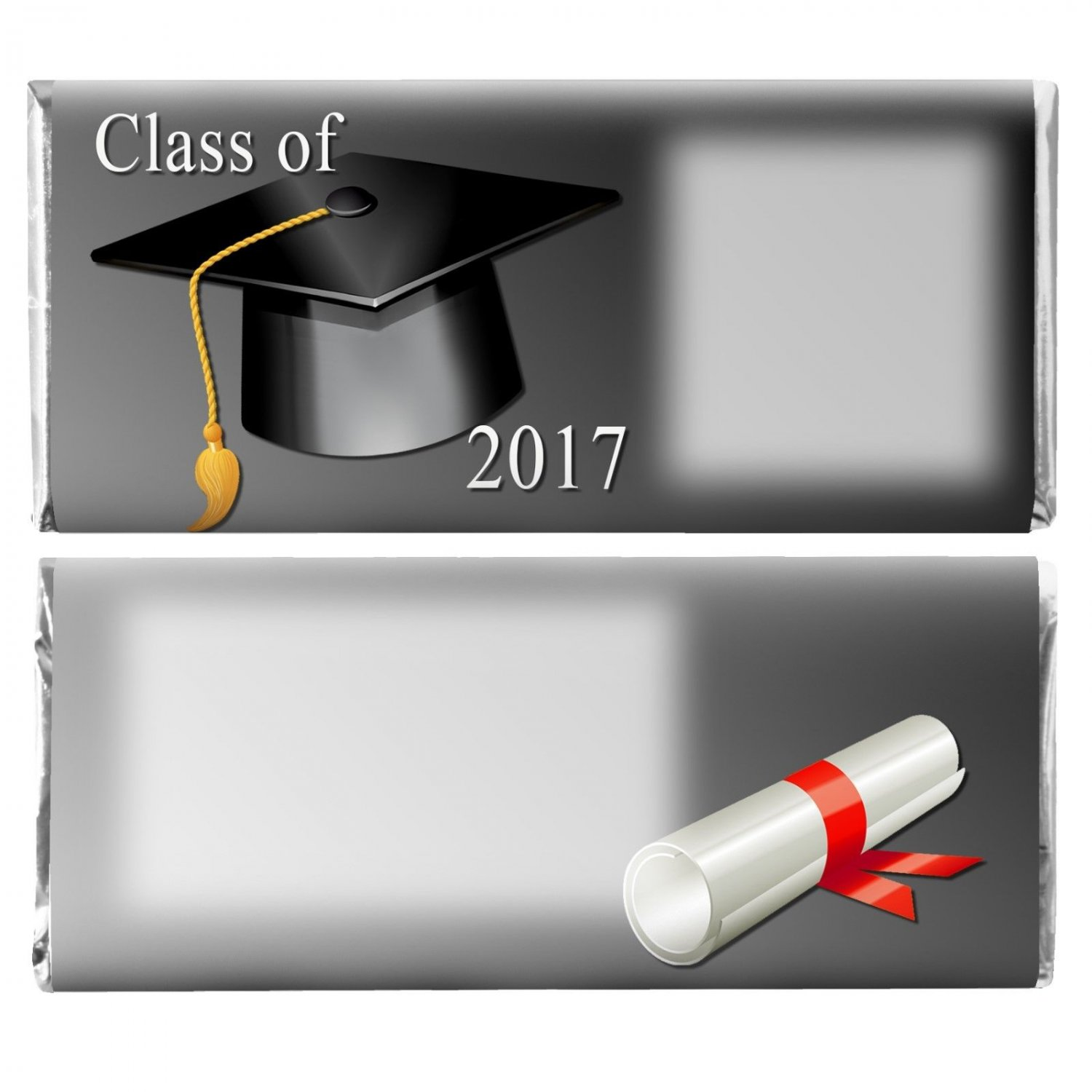 Graduation Party Supplies 12 Personalized Hershey Candy Bar Wrappers Black Cap