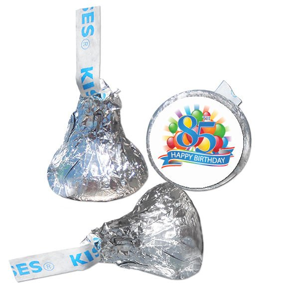 85th Birthday Party Supplies Hershey Kiss Labels Stickers Personalized Favors