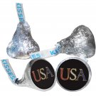 108 4th of July Hershey Kiss Kisses Labels Stickers Independence Day USA Gold 2