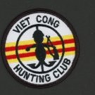 "Viet Cong Hunting Club 3"" Patch Vietnam War Iron-On Veterans Military Marines"