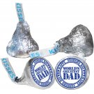 108 Father Day Hershey Kiss Labels Stickers Happy Father's Day Kisses Great Dad
