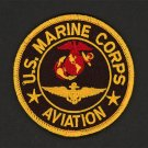 "U.S. Marine Corps Aviation patch USMC LOGO United States 3"" round red/gold/black"