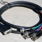 Tecnec 6' Black VGA-M HD-15 to 5 BNC RGB Cable for HDTV Extension Monitor