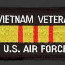 Embroidered Military Patch USAF Air Force Vietnam Veteran Service Ribbon Iron-On