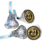 108 Happy 21st Birthday Hershey Kiss Labels Stickers Party Favors, Gift Bags