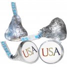 108 4th of July Hershey Kiss Kisses Labels Stickers Independence Day USA Colors