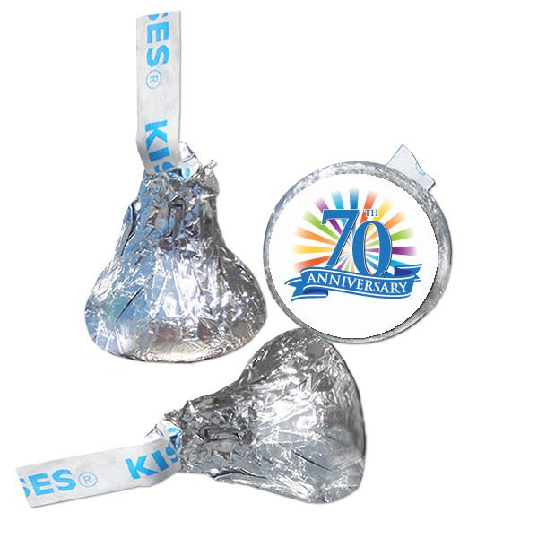70th Anniversary Hershey Kisses Kiss Labels Stickers for Party Favor 108 Labels
