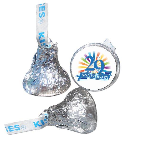 29th Anniversary Hershey Kisses Kiss Labels Stickers for Party Favor 108 Labels