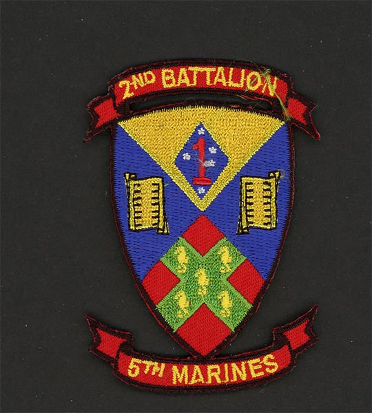 2ND BATTALION 5TH MARINES USMC MILITARY PATCH CAMP PENDLETON CALIFORNIA WARRIOR.