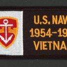 """US NAVY VIETNAM 1954-1975 PATCH USN VETERANS 4"""" x 2"""" IRON-ON VET BIKERS"""