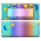 Birthday Party Supplies 12 Personalized Candy Wrappers with Stars and Moon