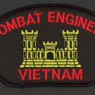 "Combat Engineer Vietnam WAR Hat Patch US ARMY VETERAN 3"" x 5 1/4"" Veteran ACOE"